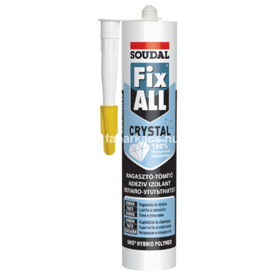 SOUDAL Fix-all Crystal <br />ragasztó-tömítőanyag 290 ml